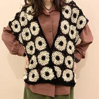 パッチワーク knit vest