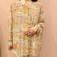 総柄blouse