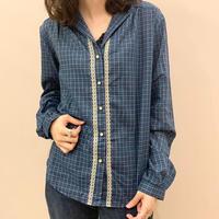check cotton blouse