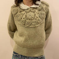 お花sweater