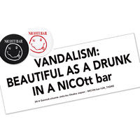 【支援企画グッズ】DRINK TICKETS×2/STICKER [SET] /NICOtt bar