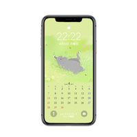【iPhone Xサイズ】4月待受カレンダー ver.2