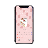 【iPhone Xサイズ】4月待受カレンダー ver.1