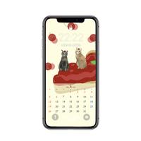 【iPhone Xサイズ】5月待受カレンダー ver.1