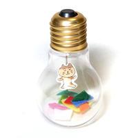 電球オブジェ(プリン猫)