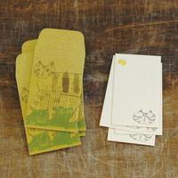 トラネコボンボン ぽち袋+カードセットS