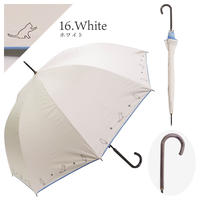 傘│猫刺繍(晴雨兼用・UVカット・遮光)ホワイトのみ