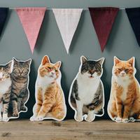 猫のかたちポストカード 4枚セット