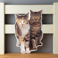 猫のかたちポストカード ちりとあきら