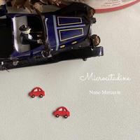 ミニカー/レッド/2枚セット/刺繍アイロンワッペン