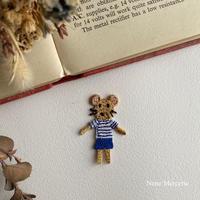 ネズミの男の子/1枚/刺繍アイロンワッペン