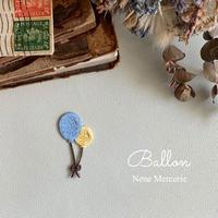 風船/ブルー/刺しゅうアイロンワッペン