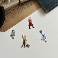 〈暮らしシリーズ〉セット/4枚セット/刺繍アイロンワッペ ン