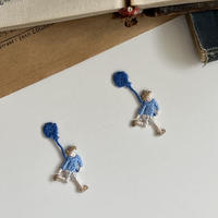 〈暮らしシリーズ〉風船/2枚セット/刺繍アイロンワッペン
