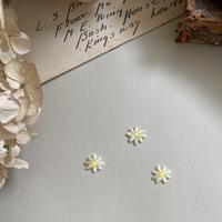 マーガレットのお花/3枚セット/刺繍アイロンワッペン