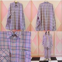 ND. Check Shirt(Purple)