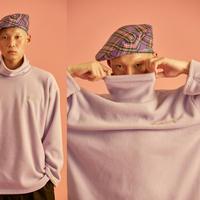 [ND] Turtle Neck T-Shirt (Purple)