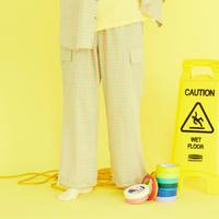 [ND.] 20SM Check Pants (Yellow)
