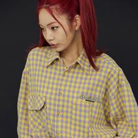 [ND.] 20FW Check Shirt (Yellow)