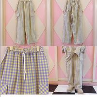 ND. Check Pocket Pants(Yellow)