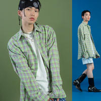 [ND] 19SM Check Shirt (Green)