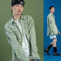 [ND] 19SM Check Shirt (Green)