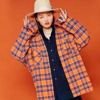 19F ND Check Shirt (ORANGE)
