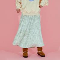 Pom Pom Long Skirt