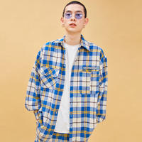D19S Check Shirt (Blue+Yellow)