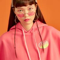 18W Crop Hood T-Shirt (Pink)