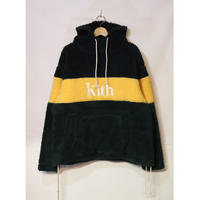 KITH SHERPA DOUBLE POCKET HOODIE SOLAR YELLOW Size L