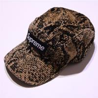 SUPREME SNAKE SKIN CORDUROY CAMP CAP Tan