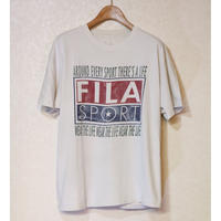 【古着】FILA SPORT WEAR THE LIFE T SHIRT OFF-WHITE COLOR Size N/A