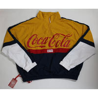 KITH × COCA-COLA Quarter-Zip Nylon Windbreaker XXL YELLOW