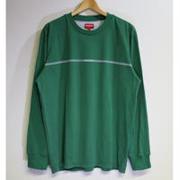 Supreme 18FW Printed Stripe L/S Top Green L size