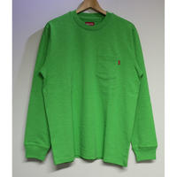 Supreme FW18KN50 M Main L/S Pocket Tee Lime Green M size