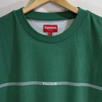 Supreme 18FW Printed Stripe L/S Top Green L size