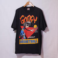【古着】DISNEY GOOFY ABOUT BASKETBALL S/S Tee BLACK Size XL