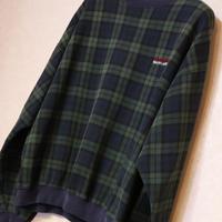 CHAPS RALPH LAUREN SWEAT SHIRT Green/Navy チェック柄 Size:XL