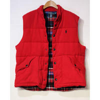 【古着】POLO RALPH LAUREN DOWN VEST Red Size XL