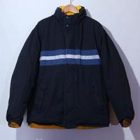 【古着】NAUTICA DOWN JACKET REVERSIBLE Black/Yellow Size XL