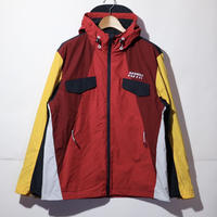 KITH Colorblocked Windbreaker W Hood Red Multi Size L