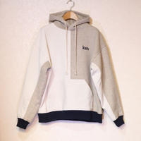KITH BRYANT COMBO HOODIE IVORY / MULTI M Size