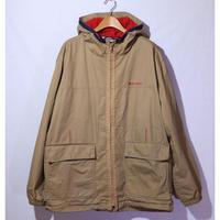 【古着】TOMMY HILFIGER ANORAK COTTON JACKET Beige / Red Size XXL