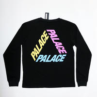PALACE Skateboards P3 L/S Tee BLACK×MULTI