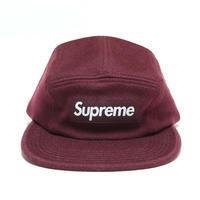 Supreme x Loro Piana Wool  Camp Cap キャンプキャップ Burgundy バーガンディ