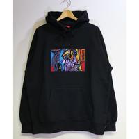 Supreme 18FW Chainstitch Hooded Sweatshirt Black L size