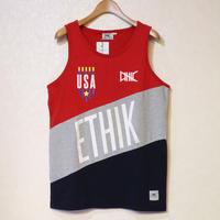 ETHIK TANK TOP RED/GREY/NAVY Size US M