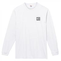 やっぱ白がホットな西海岸スタイルの「愛と想像力」7.4oz ロングスリーブTシャツ