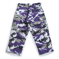YIN YANG CUT-OFF CAMO PANTS (PURPLE)